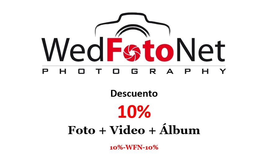 Descuento 10% de fotografo de bodas Granada