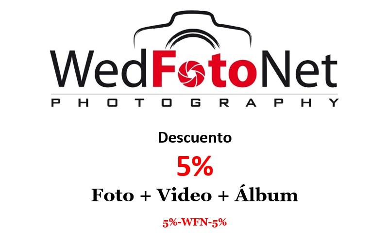 Descuento 5% de fotografo de bodas Granada