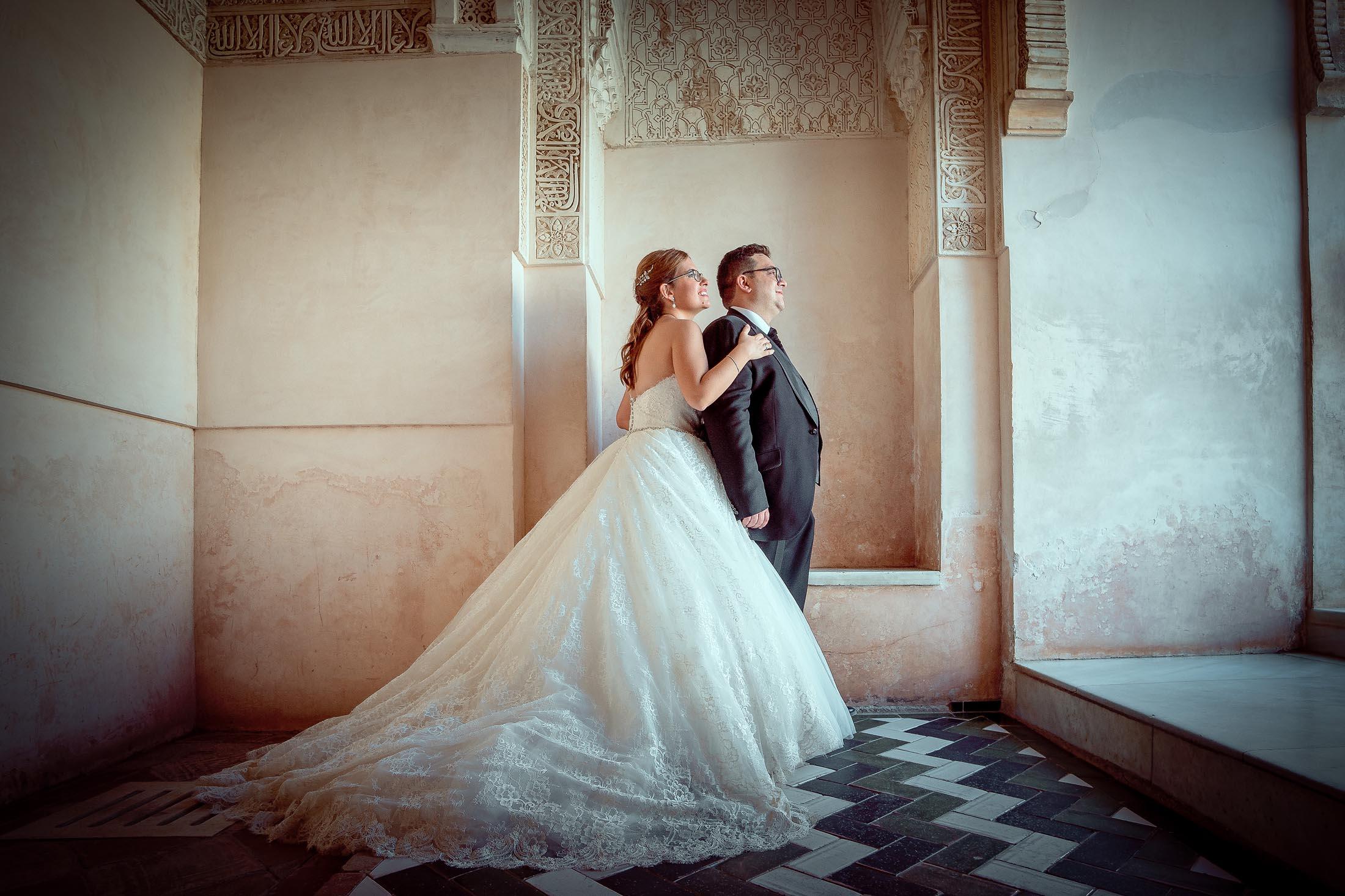 Reportaje de boda en Alhambra
