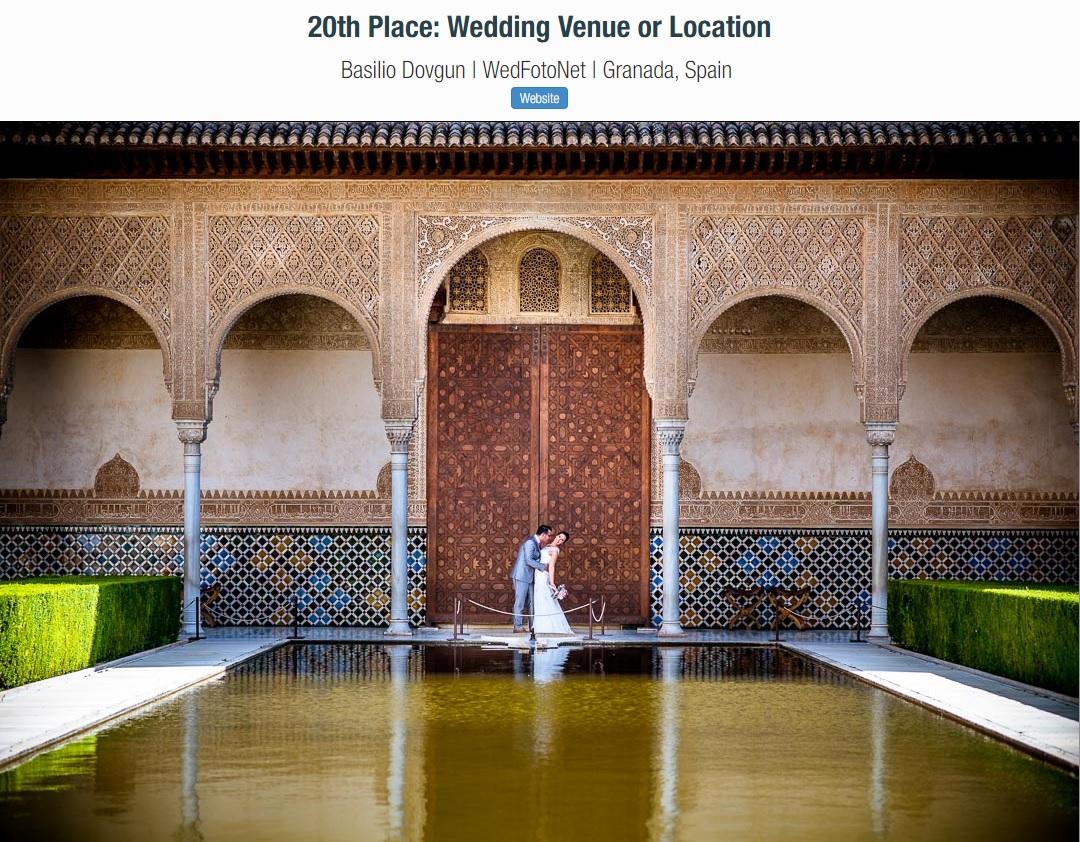 WedFotoNet - ganador de un prestigioso premio de fotógrafos de bodas.