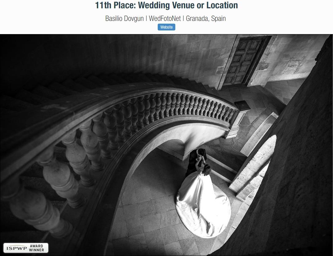 Premio fotografico de mejor fotografo de bodas