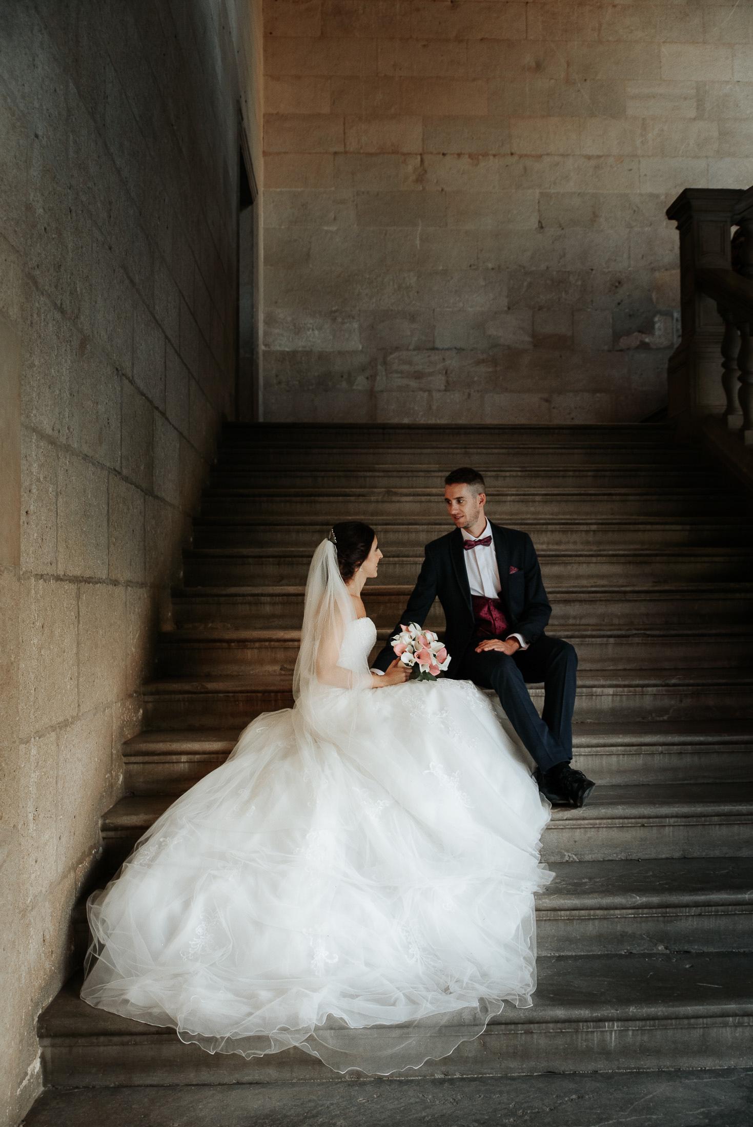 Alhambra Wedding - Nice couple at the photo shooting
