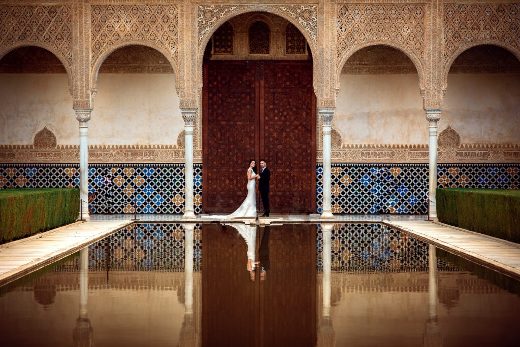 Wedding in Alhambra, Court of the Myrtles