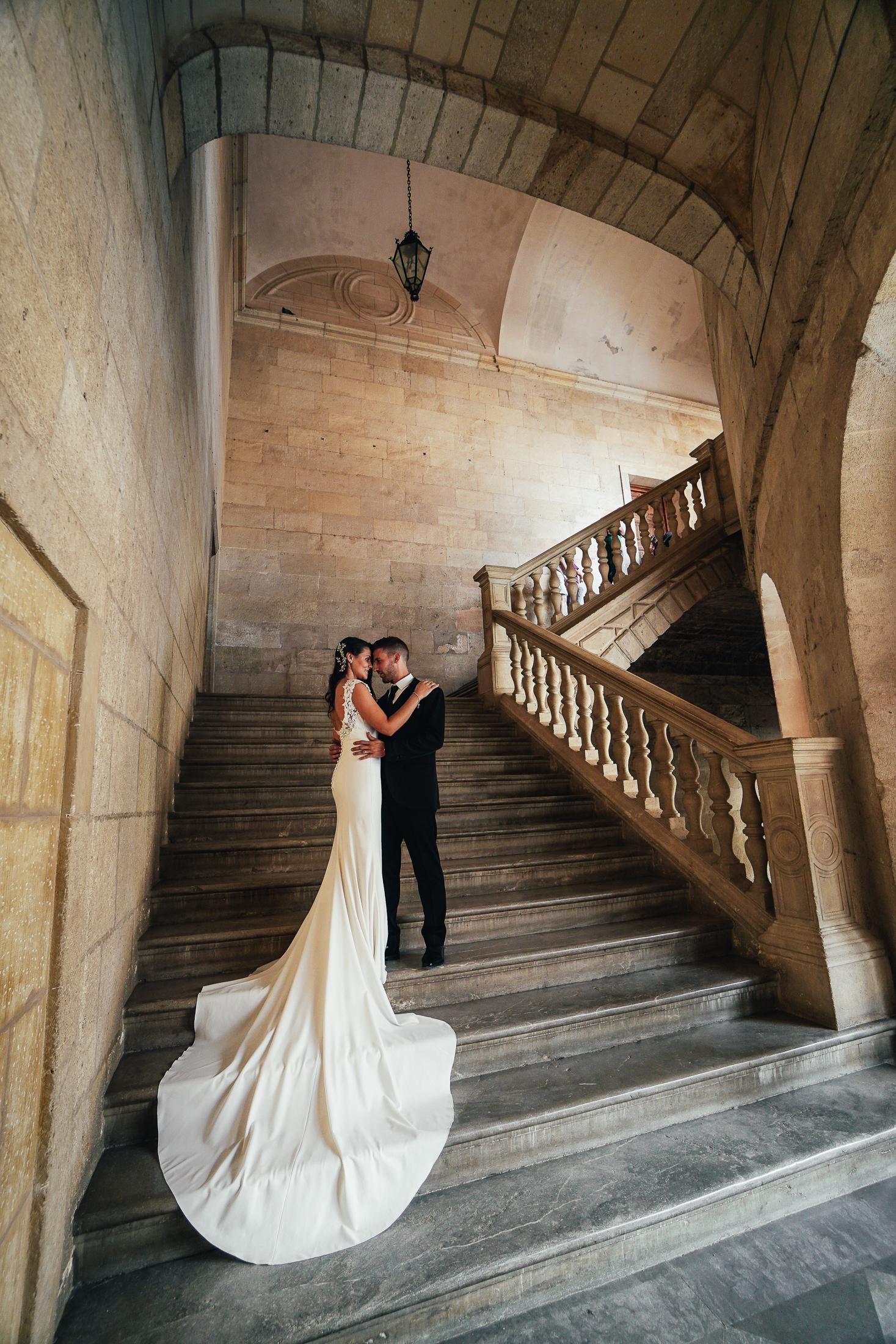 Postboda en Alhambra. Palacio Carlos V