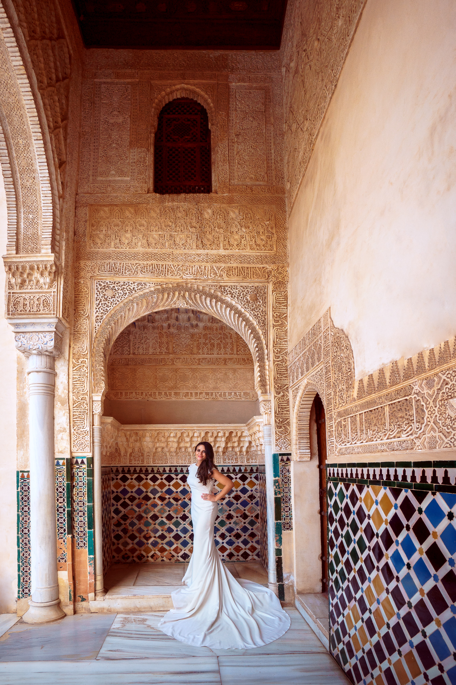Postboda en Alhambra. Patio de Los Leones.