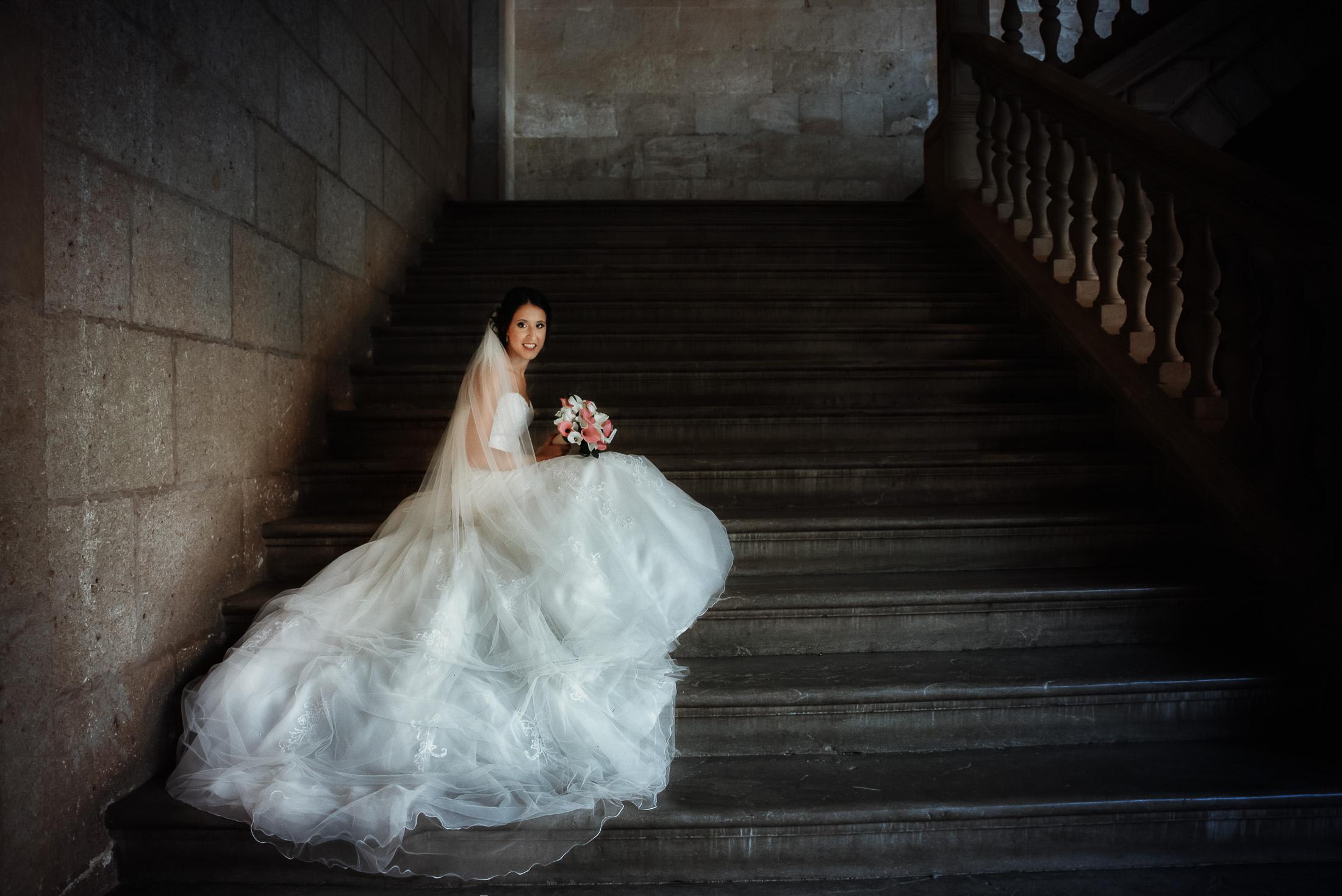Post boda en Granada, palacio Carlos V
