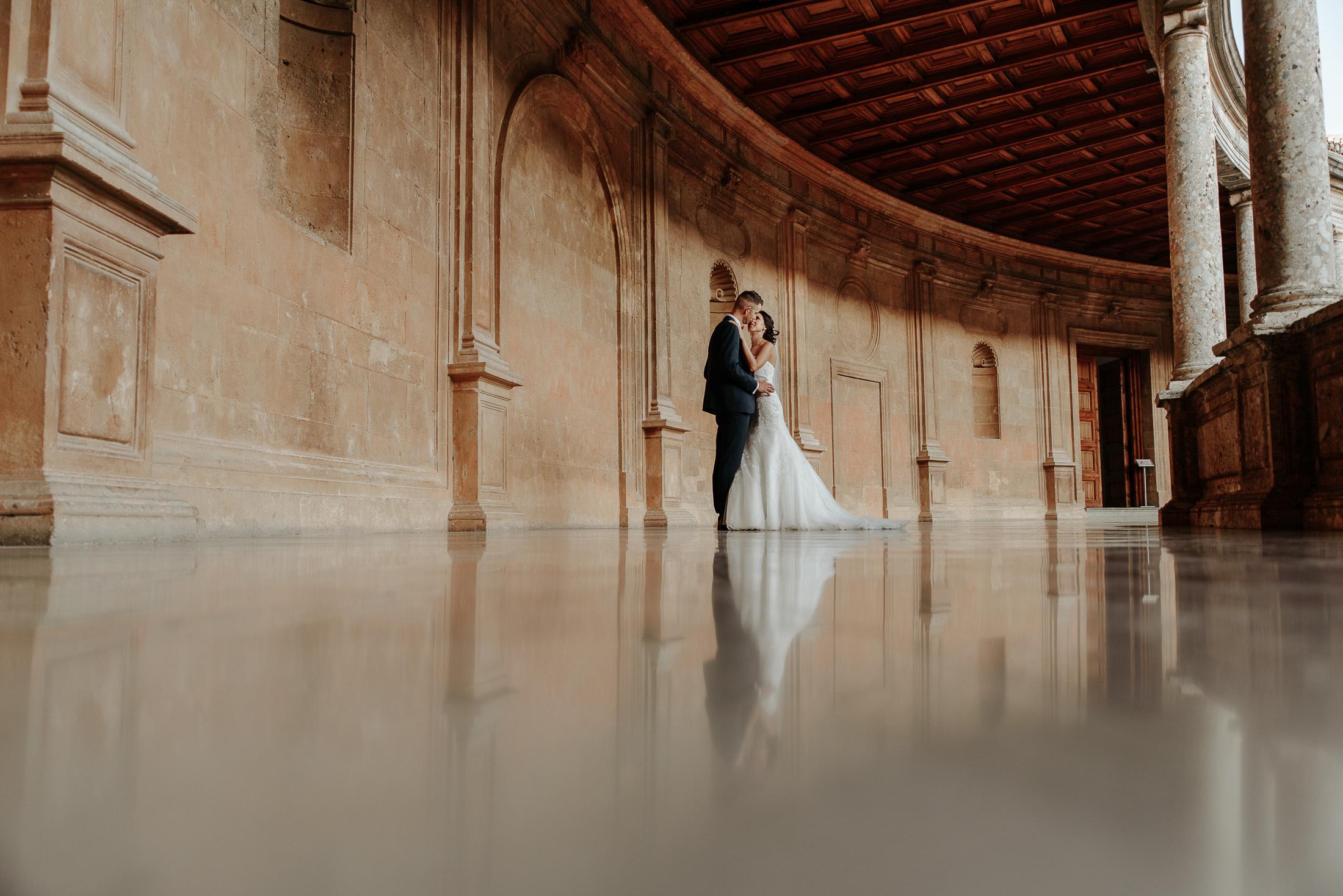 Palacio Carlos V, Postboda en Alhambra