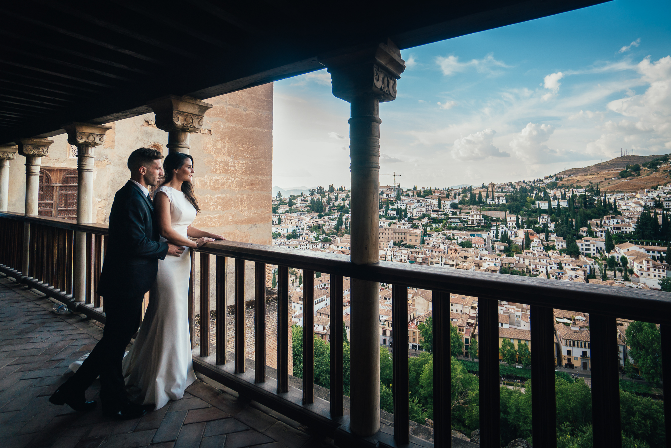 Wedding in Alhambra-Comares Palace