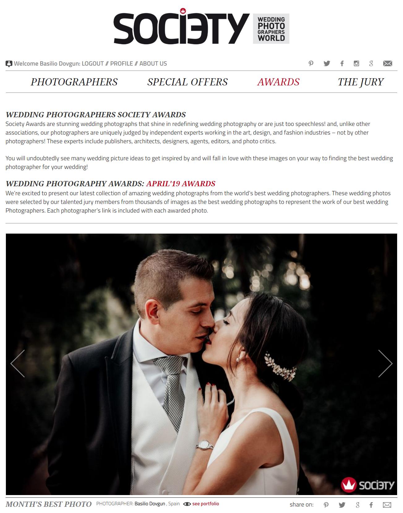 Premio internacional de mejor fotografo de bodas
