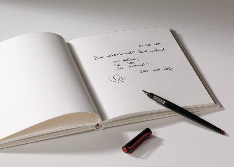 Libro De Firmas, 23x25 cm, 144 Páginas Blancas
