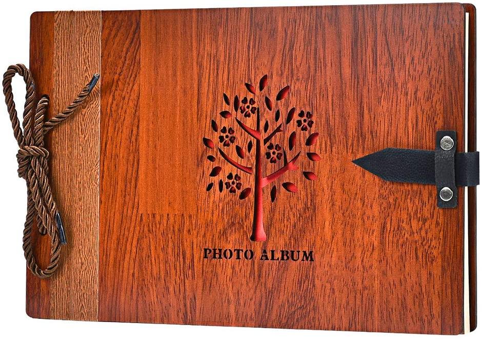 Libro de firmas 29 x 19 cm. 80 páginas con Cubierta de Madera