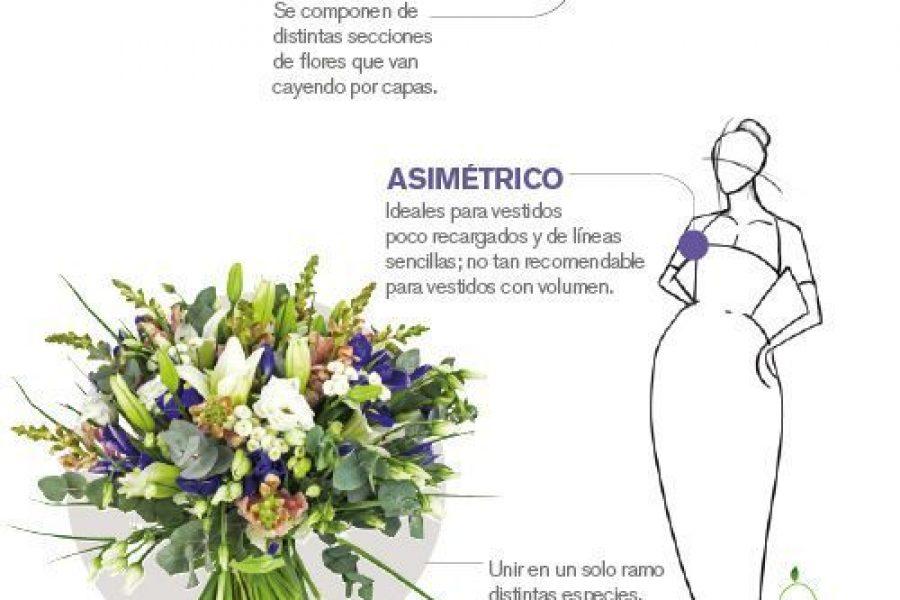 Combinar ramo con vestido de la novia
